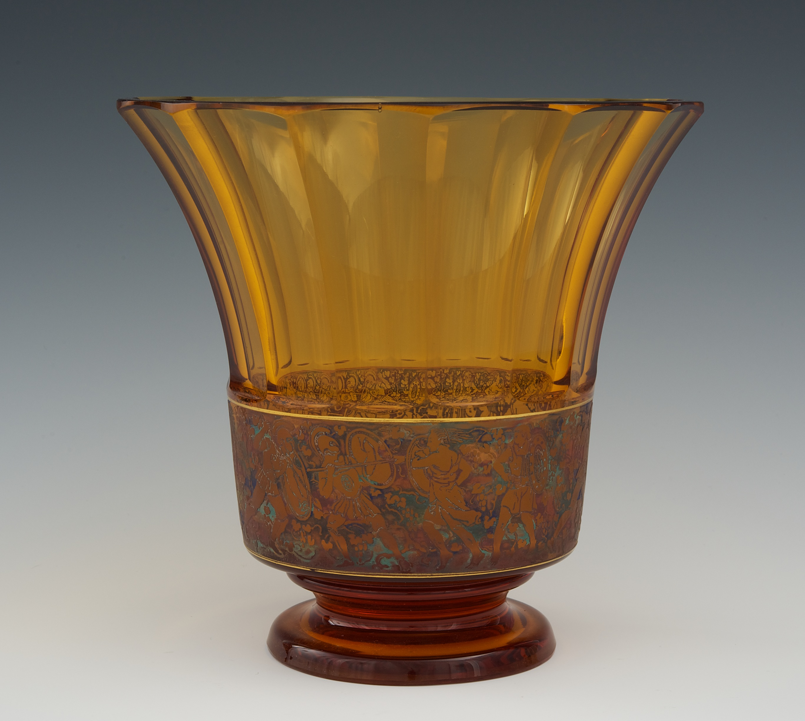 A moser carlsbad faceted amber glass vase 092410 sold 1495 a moser carlsbad faceted amber glass vase reviewsmspy