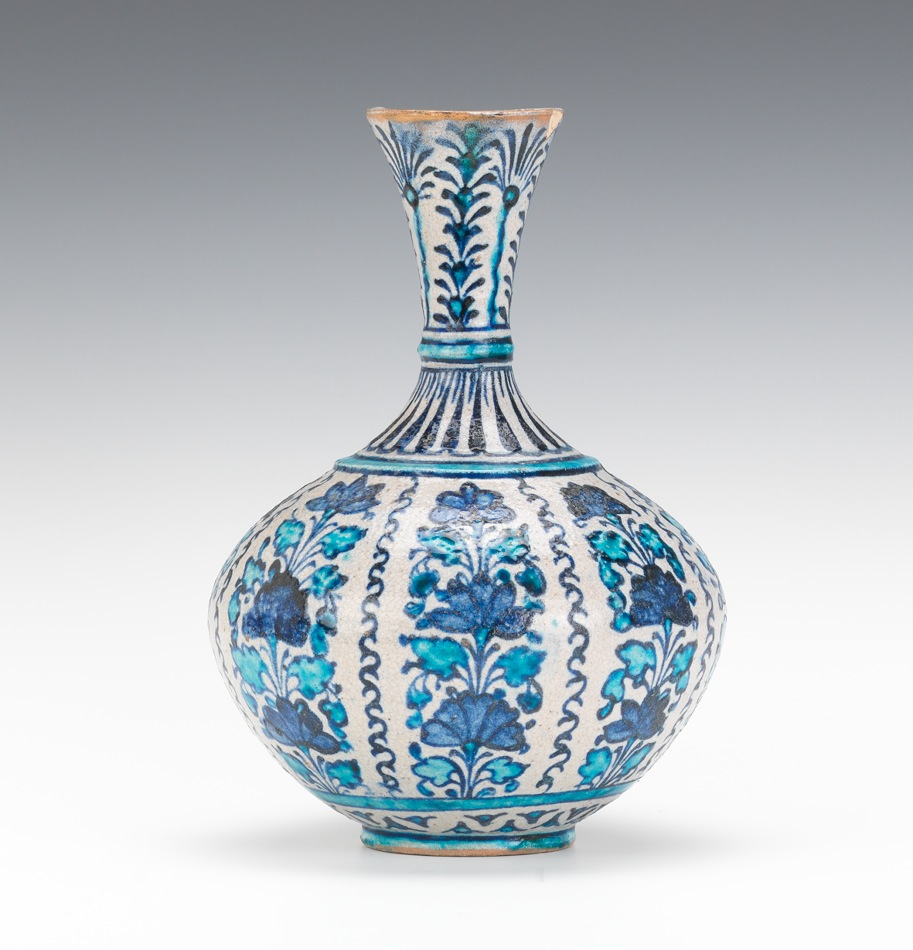 A Middle Eastern Pottery Vase Ca Late 19th Century 12