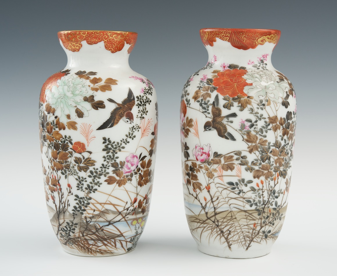 A pair of japanese porcelain sparrow and flower vases early to a pair of japanese porcelain sparrow and flower vases early to mid meiji reviewsmspy