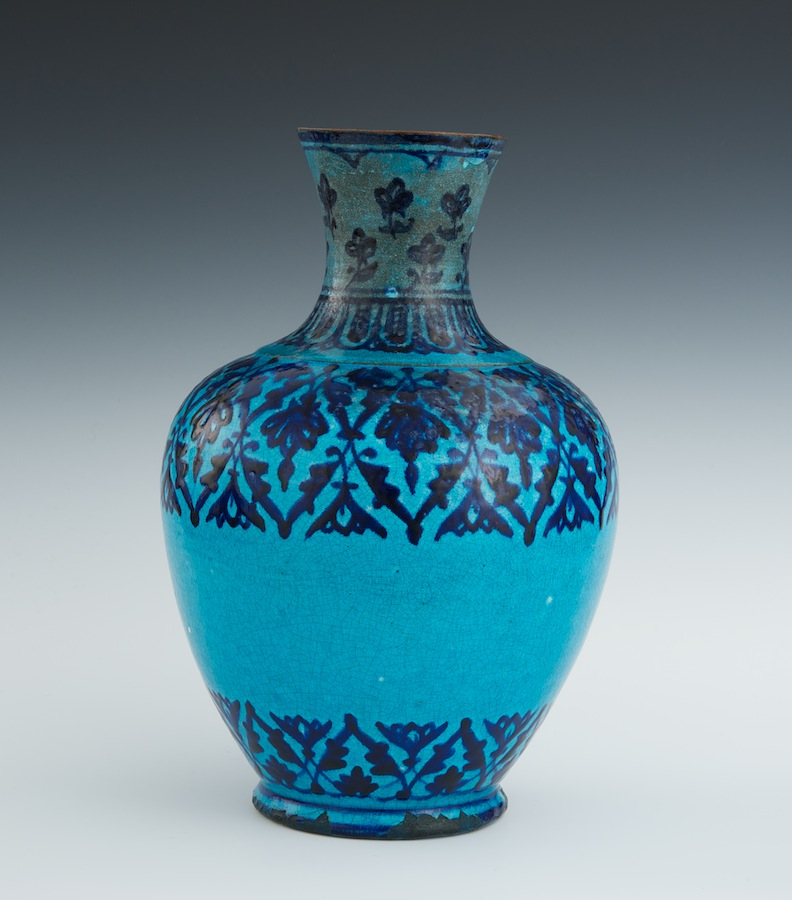 Persian Faience Vase 18th Century 01 29 11 Sold 241 5