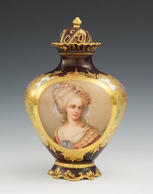A Royal Vienna Porcelain Portrait Vase Signed Quot Wagner Quot 04