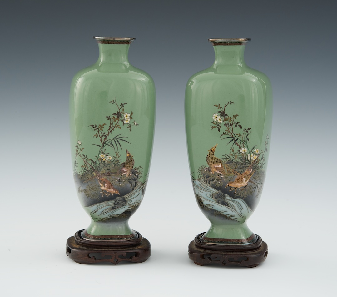 A pair of miniature cloisonne vases in the style of hayashi a pair of miniature cloisonne vases in the style of hayashi kodenji meiji period reviewsmspy