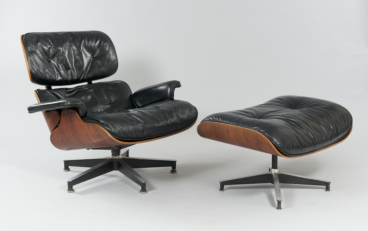 an eames lounge chair and ottoman herman miller