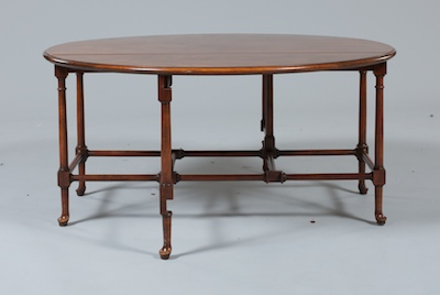 A Queen Ann Style Mahogany GateLeg Coffee Table by Baker Furniture