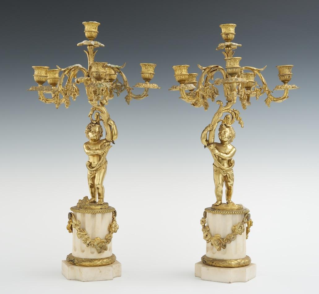 A pair of ormolu and alabaster pair of cherub candelabra 052811 a pair of ormolu and alabaster pair of cherub candelabra arubaitofo Gallery