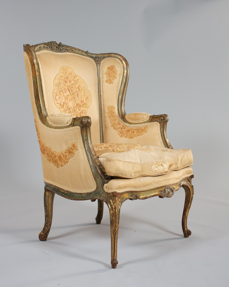 An Antique Wing Chair, French 19th Century - An Antique Wing Chair, French 19th Century, 05.28.11, Sold: $575