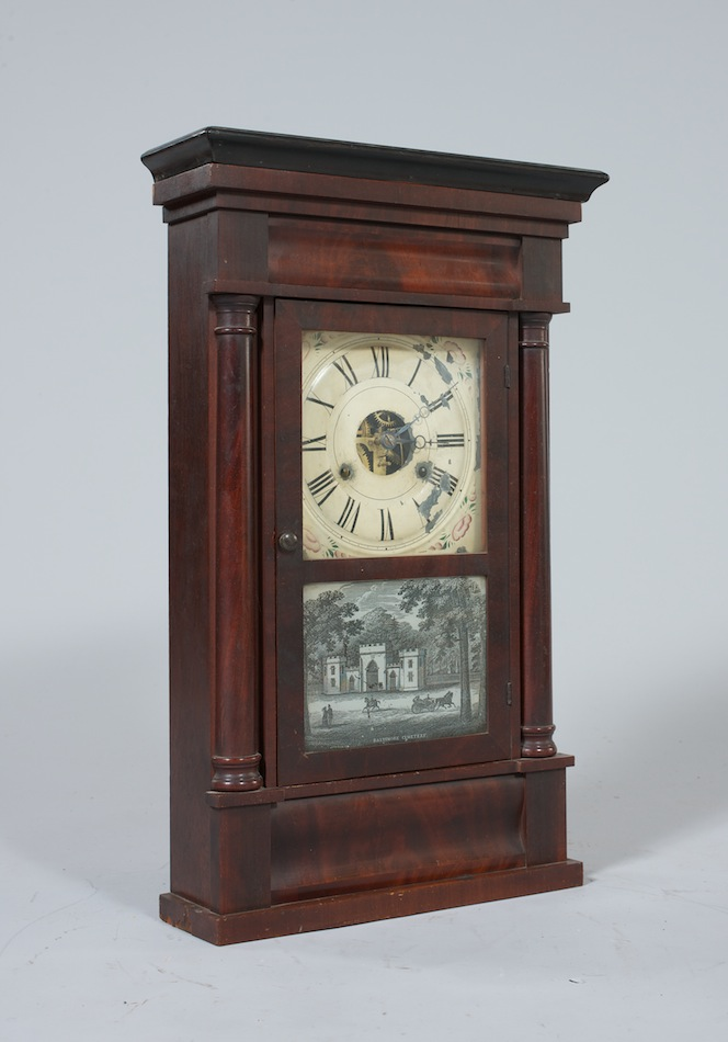 A Seth Thomas Mahogany Mantle Clock Ca 1850 05 28 11
