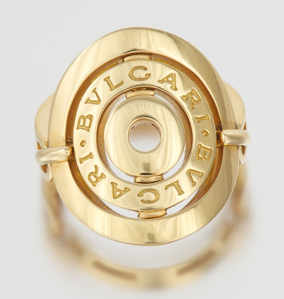 a bulgari 18k gold ring from cerchi collection