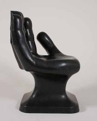 Vintage Pop Black Molded Plastic Hand Chair ca. 1960u0027s & Vintage Pop Black Molded Plastic Hand Chair ca. 1960u0027s 09.01.11 ...