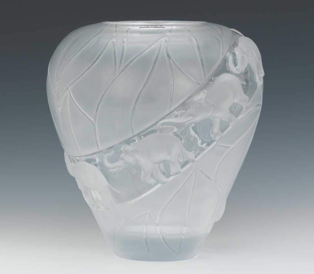 Lalique aspire auctions a large lalique borneo elephant vase reviewsmspy