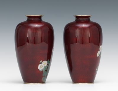A Pair Of Ando Cloisonn Vases 020912 Sold 391