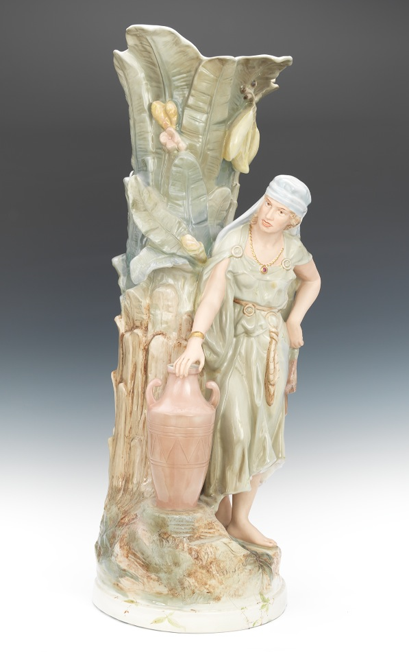 Large Royal Dux Figural Vase Or Umbrella Stand 02 09 12