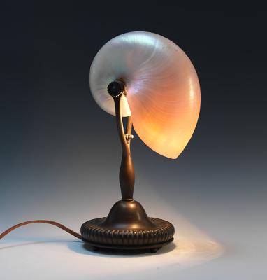 A Tiffany G & D Co Nautilus Desk Lamp , 03.30.12, Sold: $2990