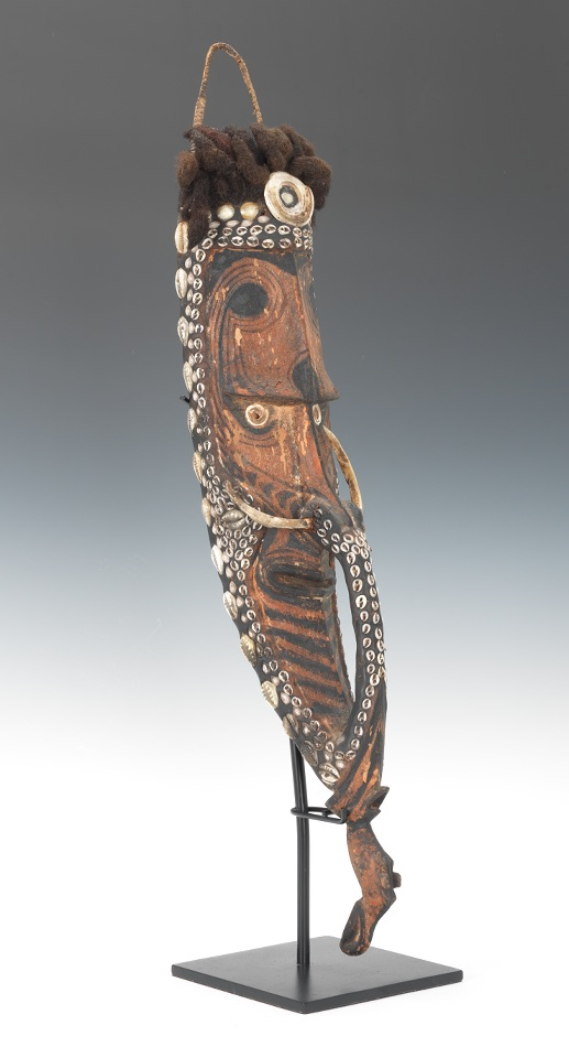 A Mai Mask From Papua New Guinea With Boar Tusks 03 30 12