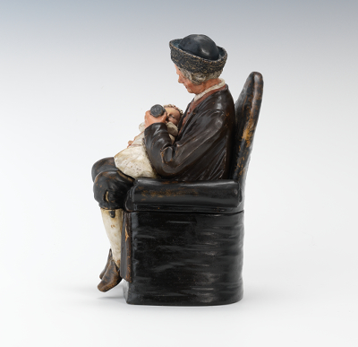 Bernard Bloch Figural Tobacco Jar Grandfather And Baby
