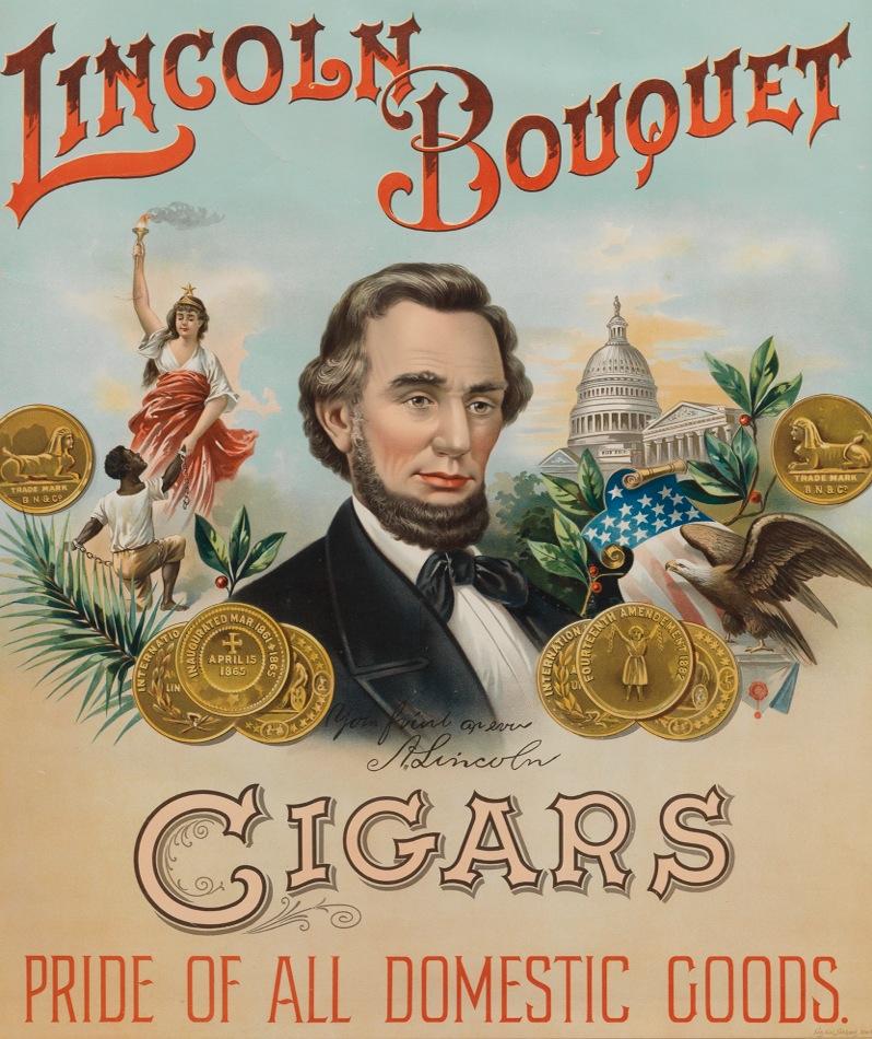 A Framed Lincoln Bouquet Cigar Advertisement 05 26 12