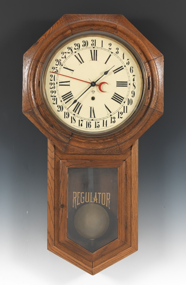 Ansonia School Clock With Calendar 05 24 12 Sold 115