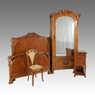 Bedroom Suite Attributed To Eugene Vallin Ca 1900