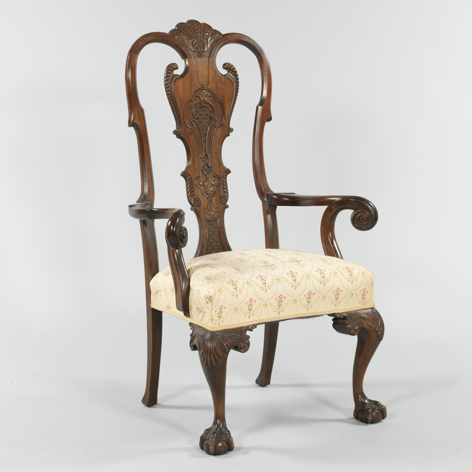 A Large Queen Anne Style Arm ChairA Large Queen Anne Style Arm Chair  09 08 12  Sold   356 5. Antique Queen Anne Upholstered Chairs. Home Design Ideas
