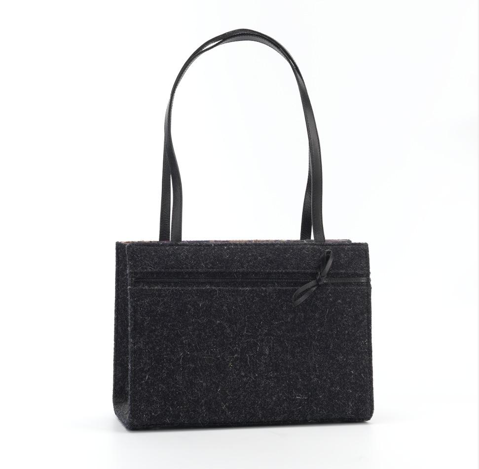 A Kate Spade Wool And Leather Handbag
