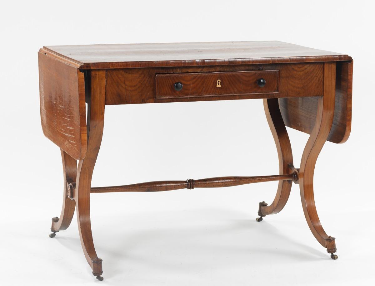 A Biedermeier Drop Leaf Sofa Table Ca 1825 60 10 18 12