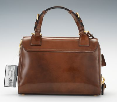 prada patent leather spazzolato shoulder bag