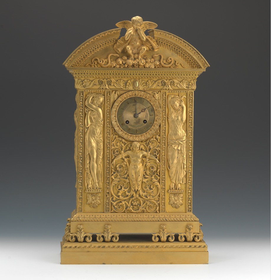 A D Ore Bronze Clock French Ca 1840 12 12 13 Sold 2185