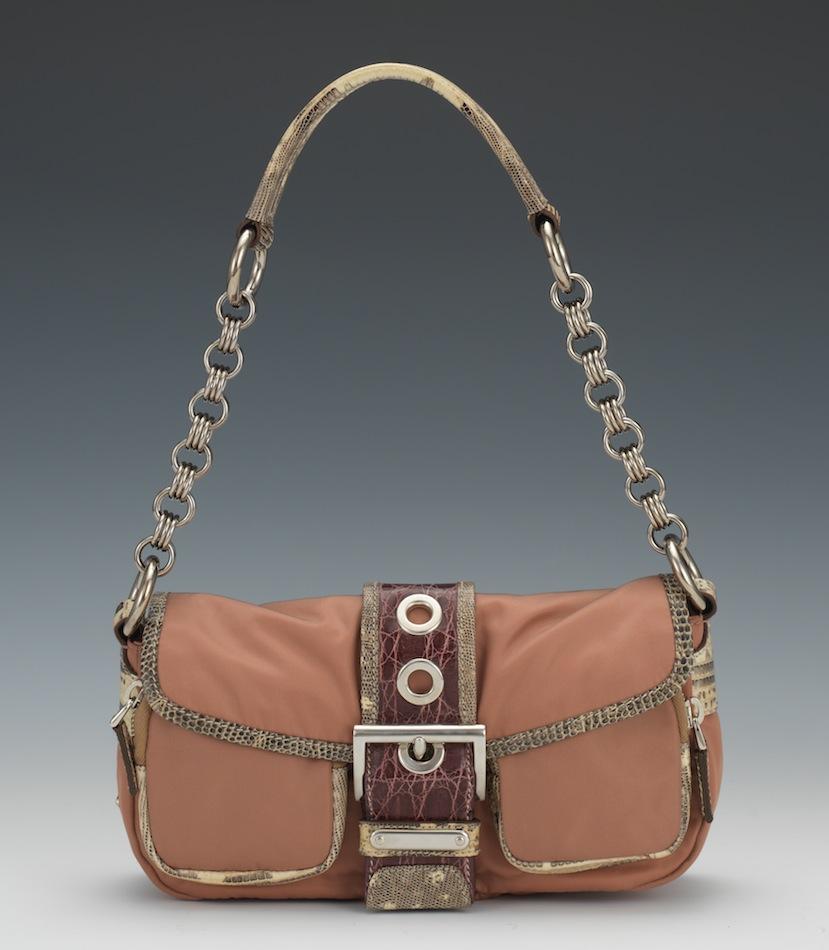 Prada Python/Dusty Rose \u0026quot;Tessuto Patch Catena\u0026quot; Shoulder Bag, 12.13 ...