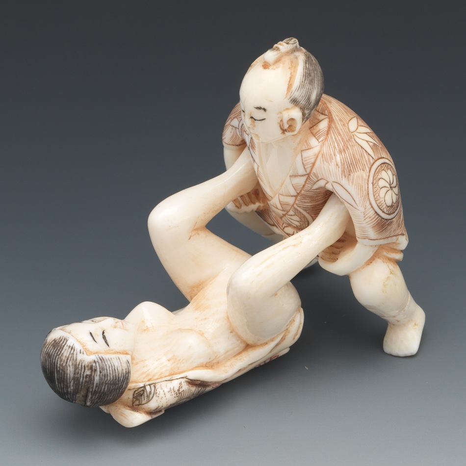 An Erotic Carved Ivory Netsuke 03 21 13 Sold 586 5