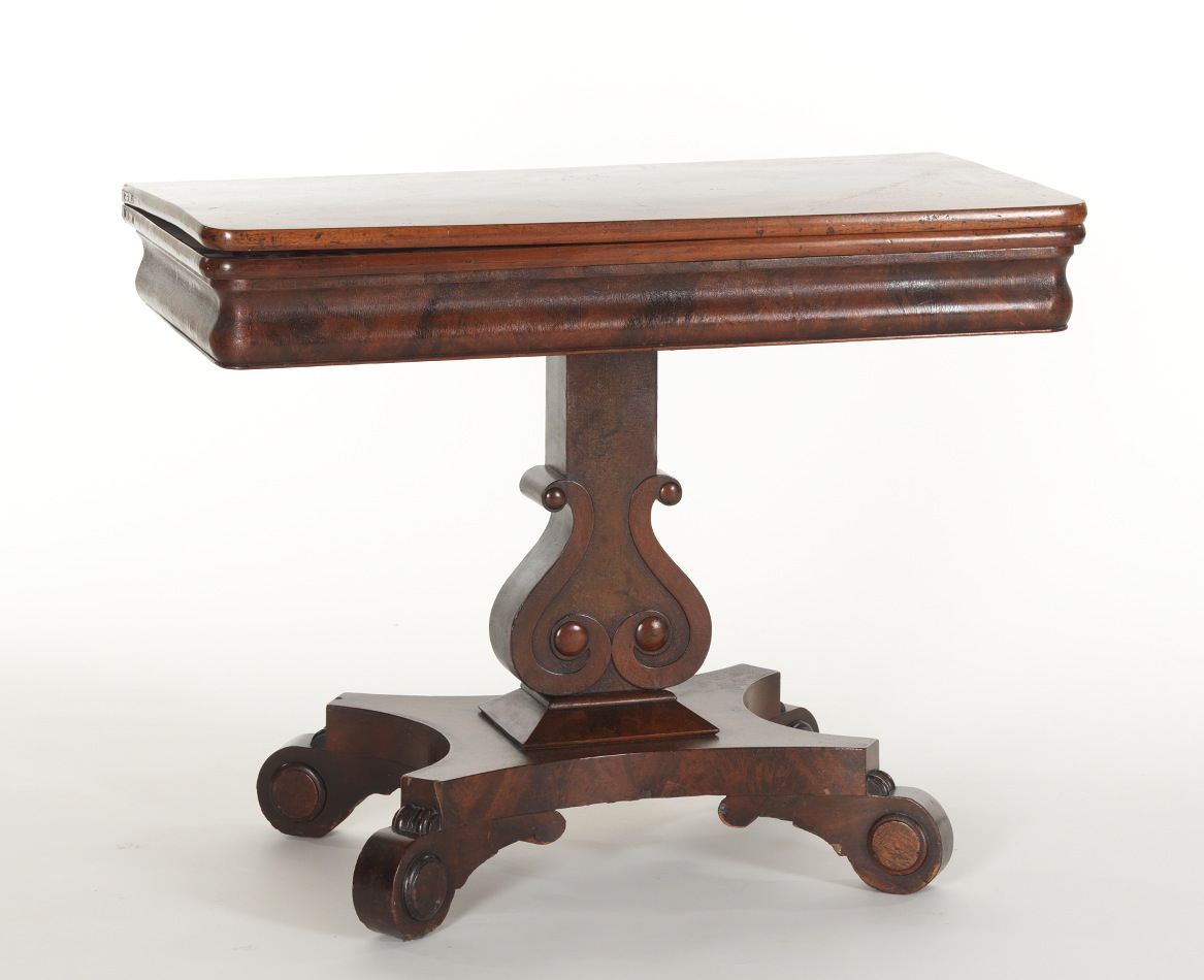 American Empire Style Flip Top Games Table