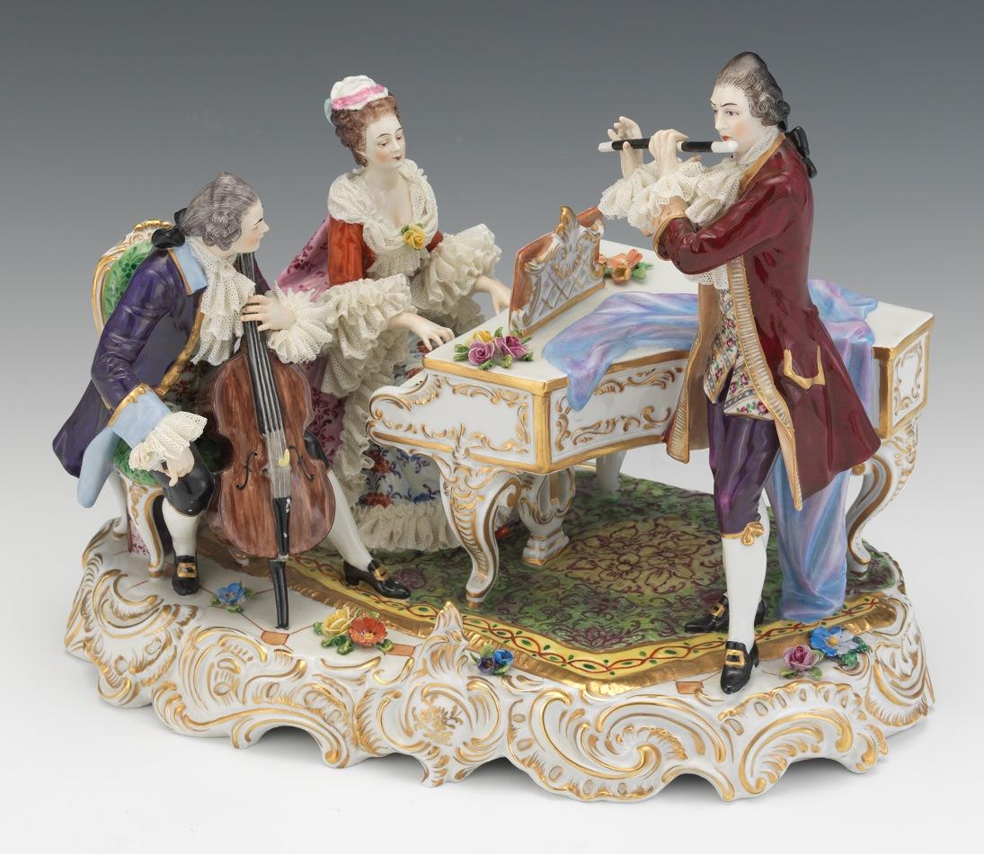a volkstedt rudolstadt porcelain musical trio sold 644. Black Bedroom Furniture Sets. Home Design Ideas
