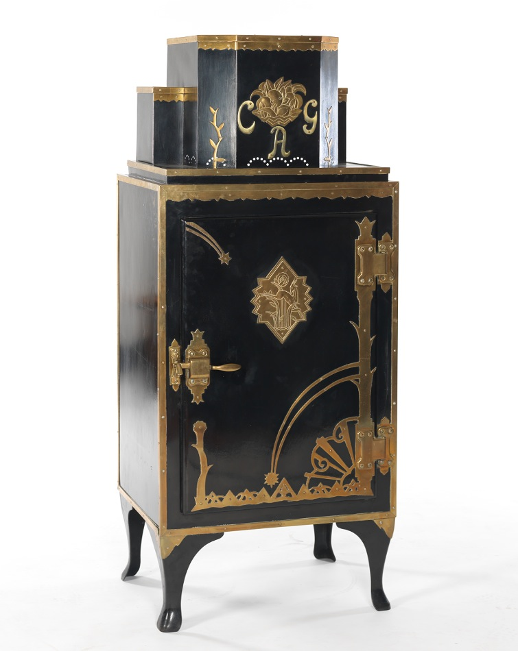an art deco vintage monitor top refrigerator. Black Bedroom Furniture Sets. Home Design Ideas