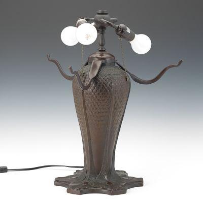 Reproduction Tiffany Leaded Glass Peacock Lamp