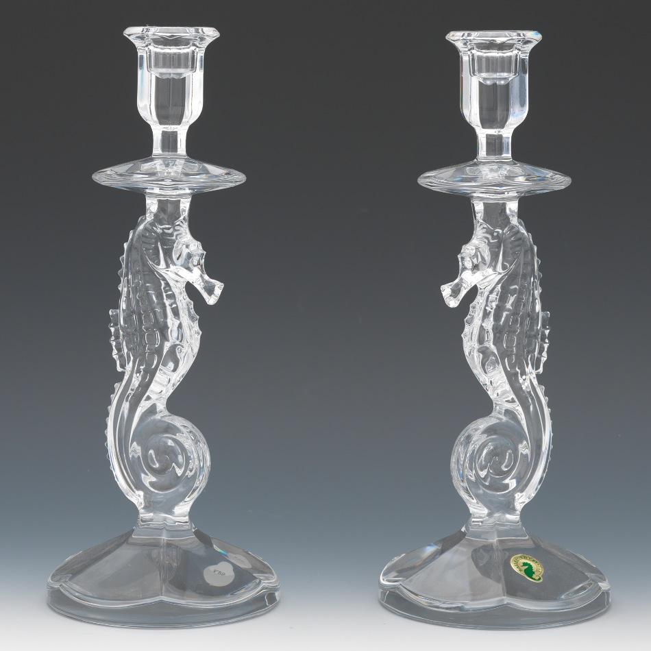 A pair of waterford crystal seahorse candlesticks 091913 sold a pair of waterford crystal seahorse candlesticks reviewsmspy