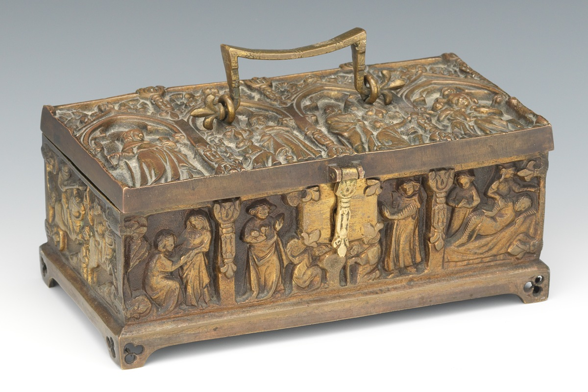 Bronze Medieval Style Box 09 21 13 Sold 195 5