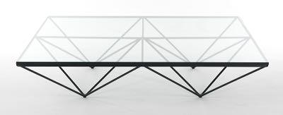 Paolo Piva Alanda For B U0026 B Italia Glass And Black Metal Coffee Table