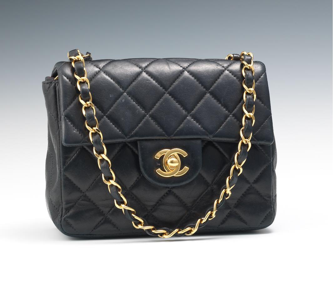 Chanel Black Lamb Skin Mini Flap Bag 3af7facb240c5