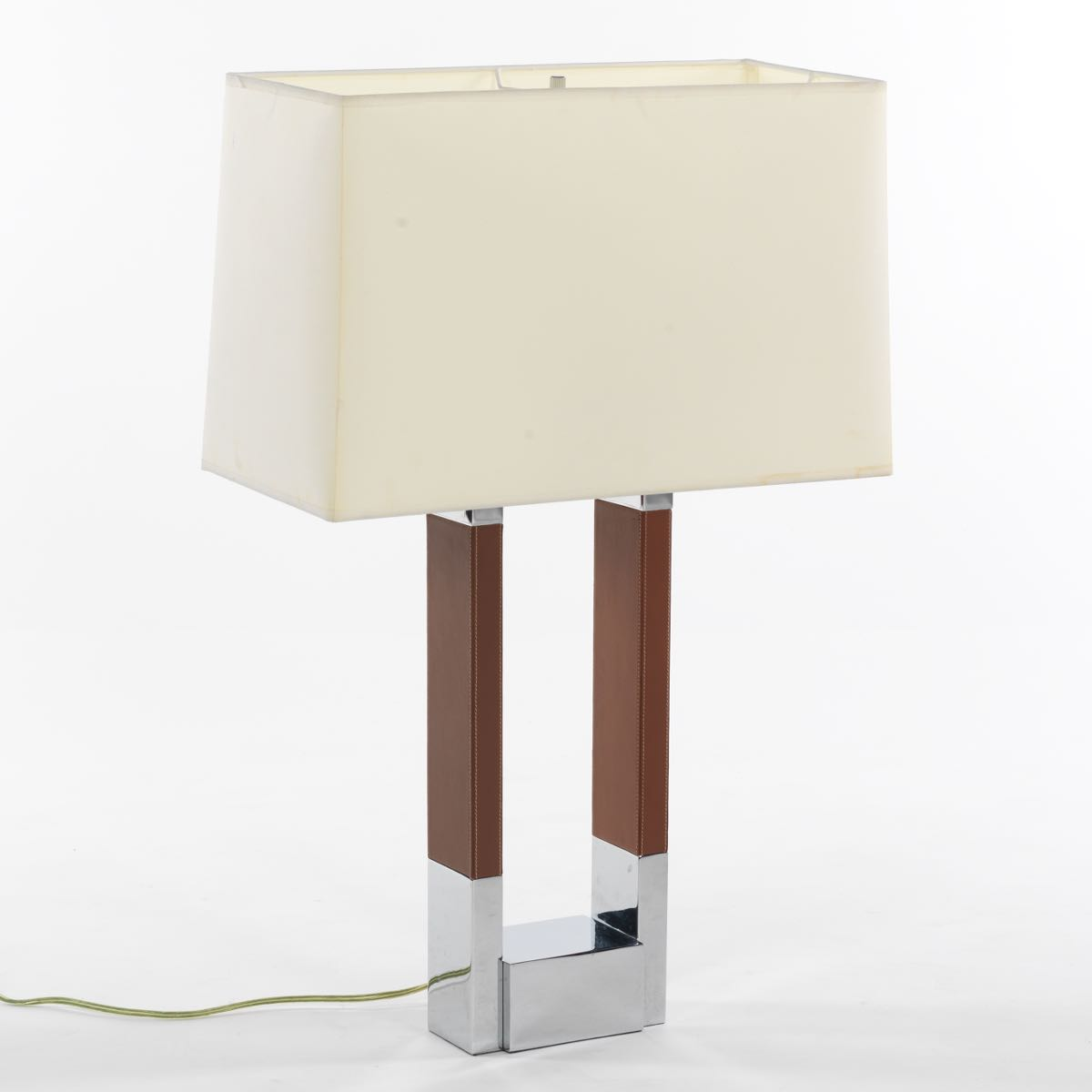 Ralph lauren metal and brown leather open frame table lamp 1211 ralph lauren metal and brown leather open frame table lamp aloadofball Choice Image
