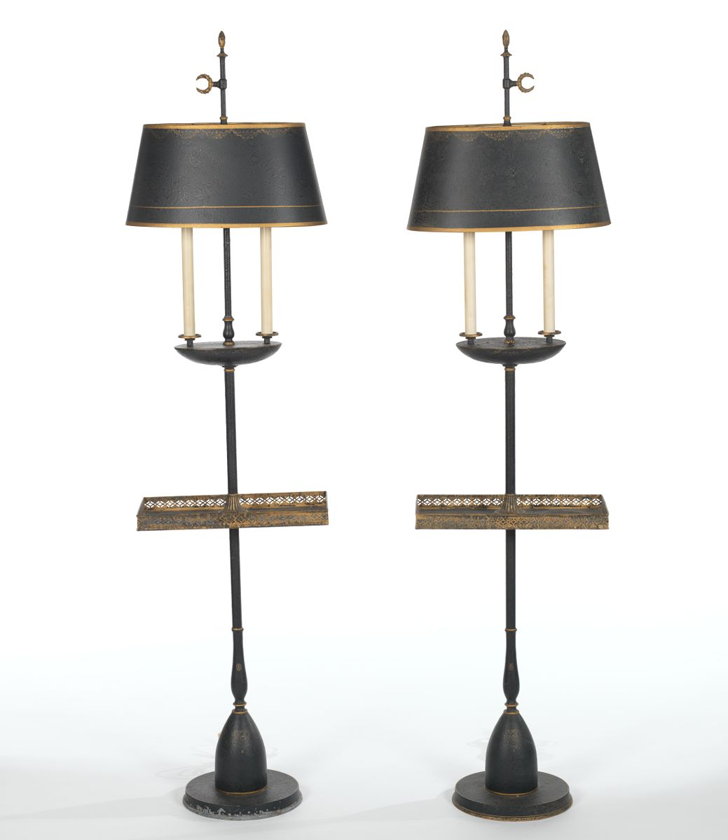 a pair of tray table floor lamps 06 20 14 sold 184