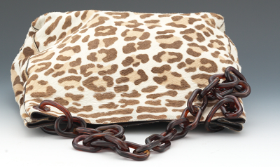 prada multicolor bag - Prada Deer Print Pony Hair Tote With Faux Tortoise Shell Chain ...
