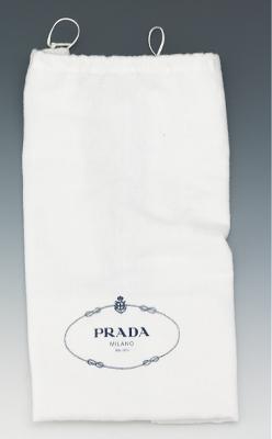 Prada Deer Print Pony Hair Tote With Faux Tortoise Shell Chain ...