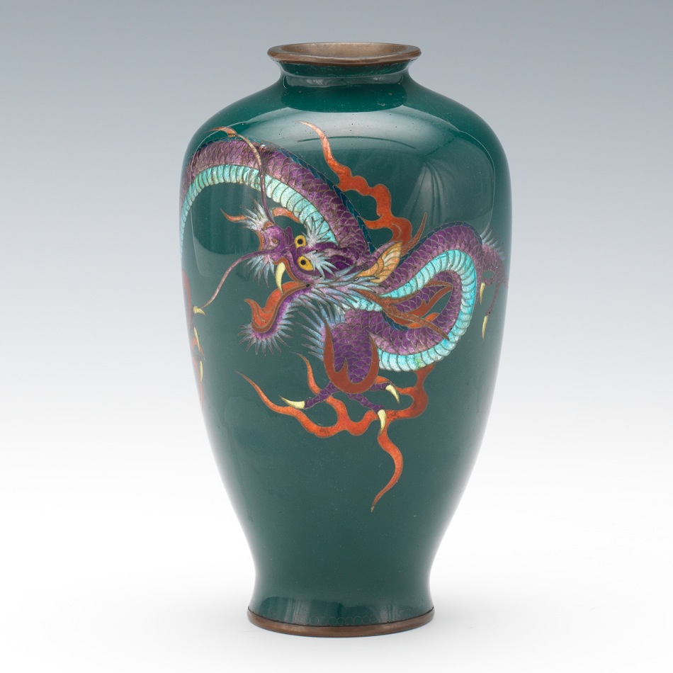 A ginbari and cloisonne dragon vase meiji period signed 0329 a ginbari and cloisonne dragon vase meiji period signed reviewsmspy