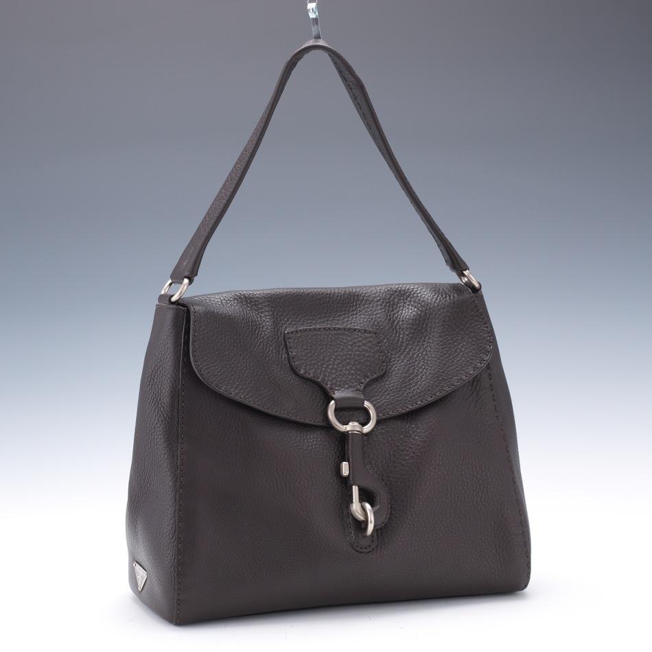 Prada Vitello Daino Brown Leather Shoulder Bag, 03.28.14 ...