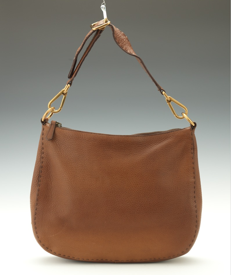 8c737c63ae9dca Prada Cervo Tobacco Leather Hobo Bag, 03.28.14, Sold: $143.75