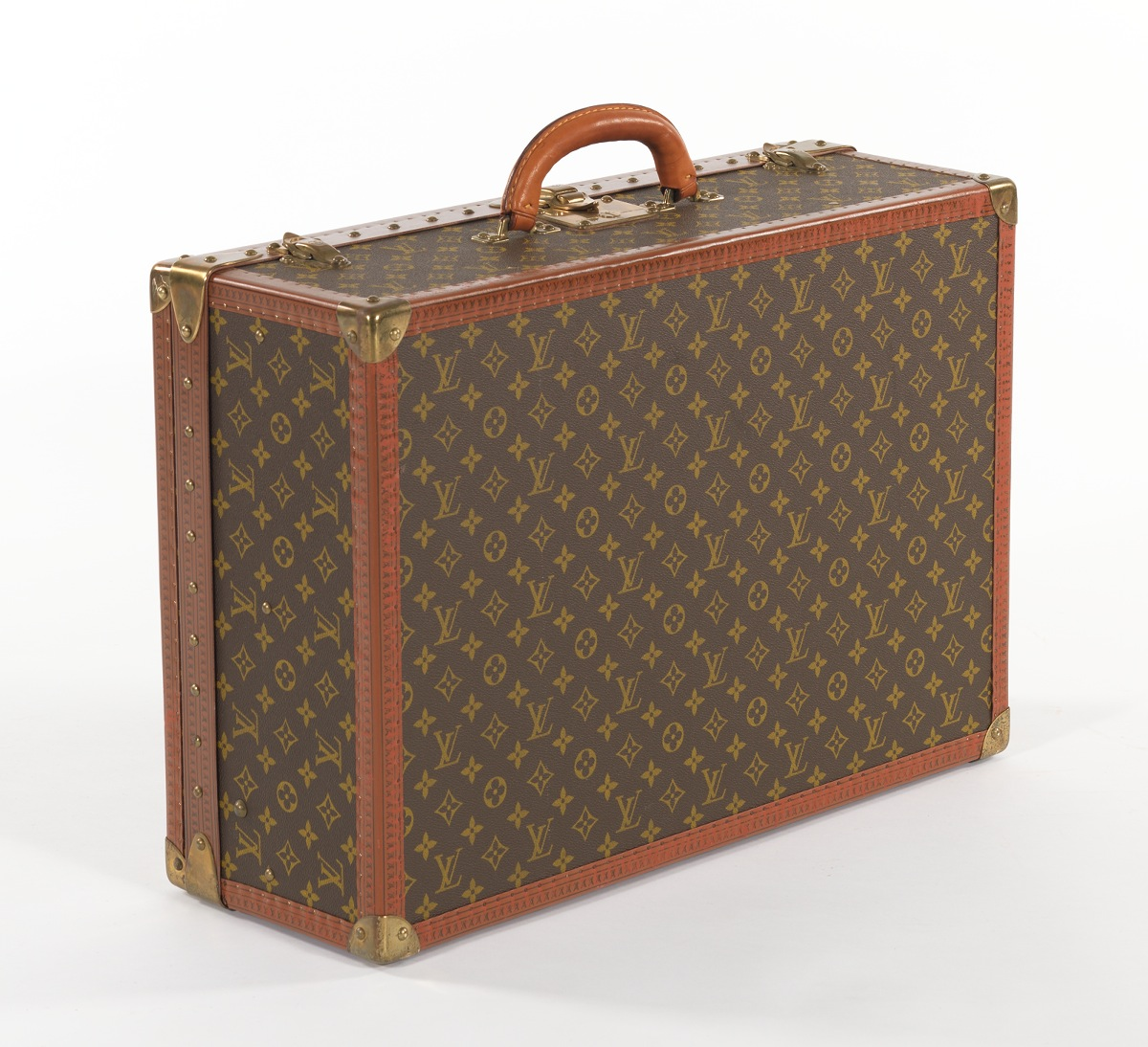 louis vuitton alzer 60 vintage suitcase ca 1980 39 s sold 1495. Black Bedroom Furniture Sets. Home Design Ideas