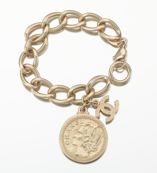 1d330ec04e7 Chanel Costume Jewelry Charm Chain Link Bracelet