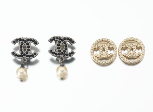 Two Sets Of Chanel Costume Jewelry Earrings