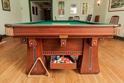 A Johnny Kling Brunswick Balke Collander Pool Table, 1914