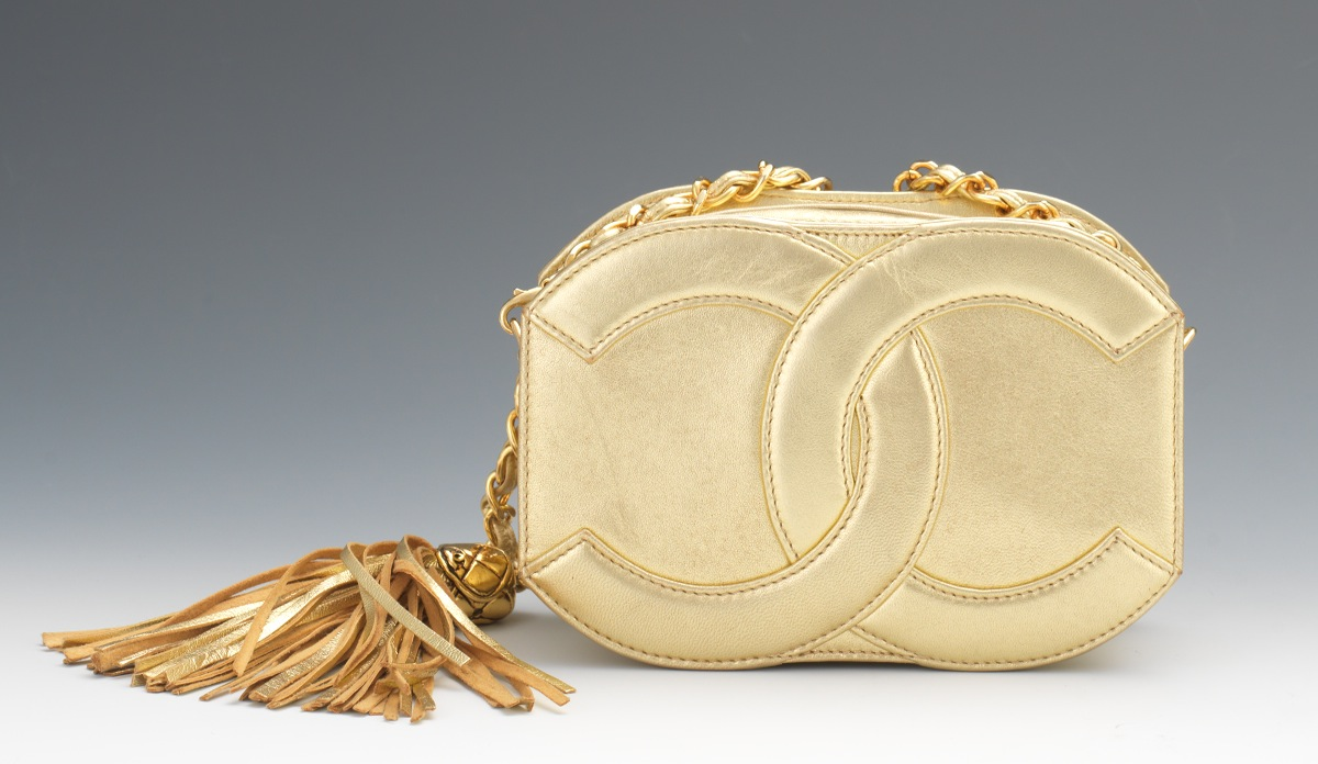 9cd93bdd1188 Chanel Vintage Gold Lamb Leather Mini CC Bag, c. 1986-89, 05.23.14 ...