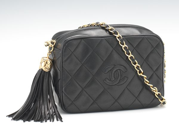 e9c1530a79d1 Chanel Vintage Quilted Black Lamb Leather Shoulder Bag, c. 1986-89
